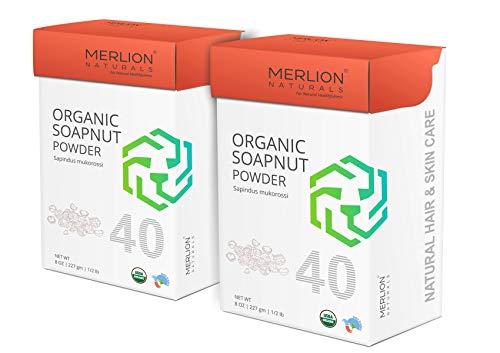 Price comparison product image Merlion Naturals Organic Soapnut Powder (16 OZ (2 Pack of 8 OZ))