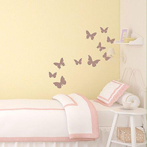 Schmetterling Wandtattoo von Stickerscape - Wandaufkleber (Lila)