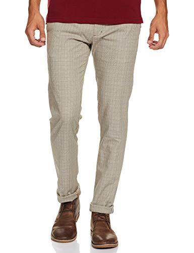 blackberrys Men's Slim Fit Casual Trousers (EK-Angus # Olive 32W x 33L)
