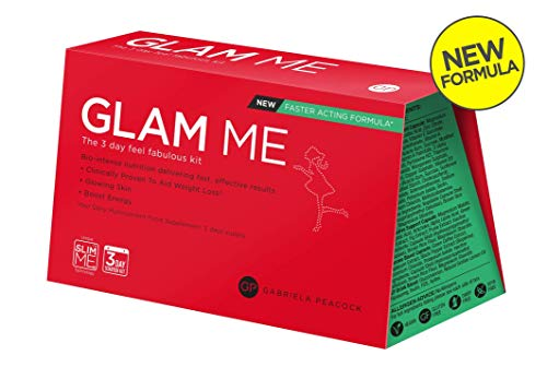 New & Improved Glam Me 3 Days - The Perfect Feel & Look Fabulous Nutritional Kit - Gives You Glowing Skin, Flattens Your Tummy and Boosts Your Energy - 3 Days Kit'