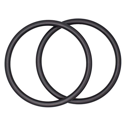 "UNISOAR 1 Pair 3"" Large Size Safe and Tested Aluminium Baby Sling Rings for Baby Carriers & Slings (Grey) with Gift"