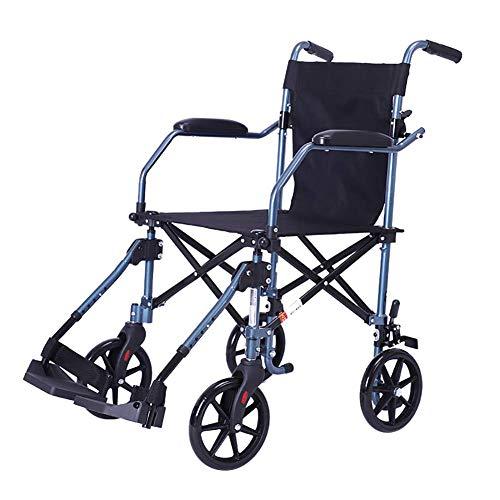 Y-L Ouderen gehandicapten Rolstoel, Vouwen Draagbaar Ultralight Oudere Ouderen Reizen Kleine Kruiwagen Vliegtuigen Reizen Rolstoel