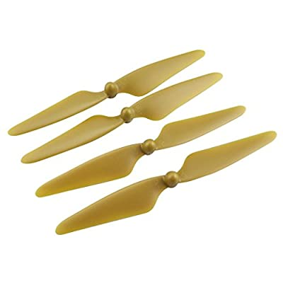 Fytoo Aircraft Accessories 2 Pairs CW/CCW Propellers for Hubsan H501S H501C MJX Bugs 3 B3 Four-axis Aerial Camera RC Drones Propeller Spare Parts,Golden