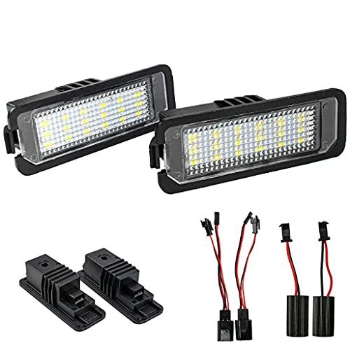 2 Stück LED Kennzeichenbeleuchtung, Ersatz für GOLF4/5/6/7 Lupo Scirocco Polo 9N/6R Passat 3c/B6/CC Phaeton NEW Beetle II EOS