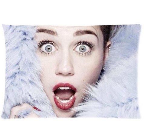 Tuesday Custom Miley Cyrus Printed for Pillowcases Fashion Pillow Cover Fundas para Almohada (35cmx50cm)