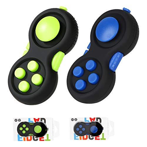 Vanblue 2Pcs Fidget Pad Toy for Kids Adults ADHD Anxiety Toys Fidget Controller Pad Fidget Blocks Fidget Game Pad Fidget Focus Toy for ADD OCD Autism Stress Relief