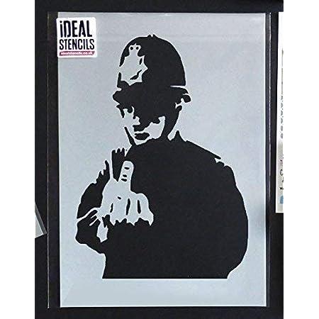 Banksy Street Artist Policeman Middle Finger Print A4 A3 A2 A1