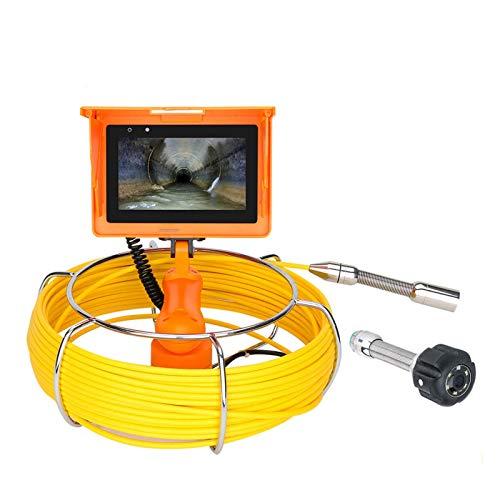 HBHYQ Handheld Alcantarilla Inspección de tubería Videocámara DVR grabación de Video/WiFi inalámbrico/Foto / 23mm HD 1080p Cámara/Pantalla de 5 Pulgadas/Luces LED 6W,10M