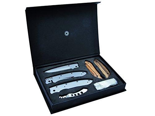 Baladéo Messer Einhand-Messerbausatz Riviera Zebrawood Länge geöffnet: 19.2cm, grau, M