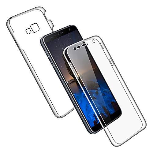 SDTEK Coque pour Samsung Galaxy J4+ Plus 360 Degres Protection Integral [Transparente Gel] Full Body Silicone Case Cover Clair pour Samsung Galaxy J4+ Plus