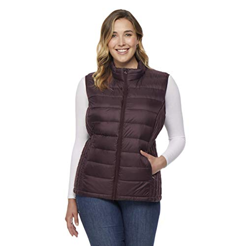 Women Plus - Size Ultra Light Down Packable Vest, Fudge, 1X