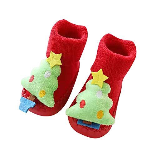 Kerstmis pasgeboren baby stap sokken, baby peuter anti-slip sok - Kerstman zachte zool laarzen voor baby pasgeboren partij gift