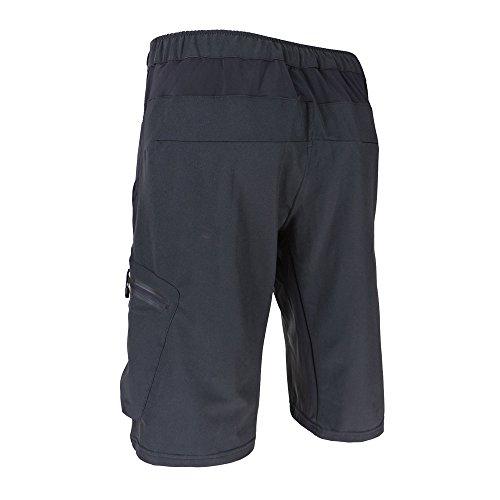 Lixada Herren Kurze Hosen, Männer Fahrradhose, Atmungsaktiv Radhose, Schnelltrocknende MTB Hose - Wasserabweisend Outdoor Hosen/Wanderhose, Schwarz+Blaue Pad, M(CN)=S(EU) - 3