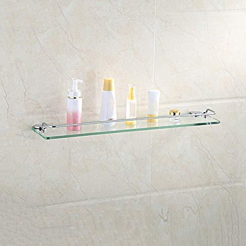 WGFGXQ Marco de esquina de cristal para baño, cesta de esquina perforada, parte superior de vidrio grueso, estante de baño para ducha de extensión de escalera (tamaño: 40 cm)