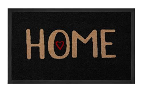 Hanse Home Zerbino Lovely Home Antracite Beige 45 x 75 cm