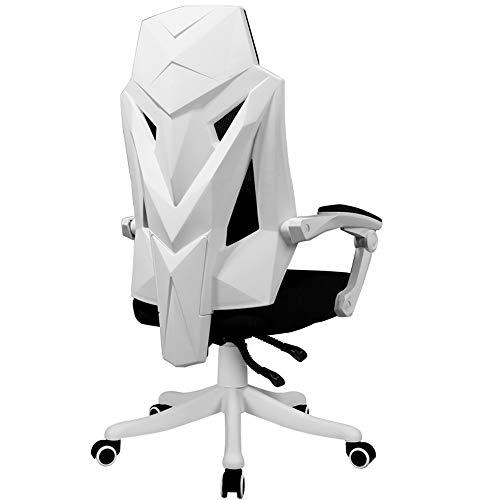 Axdwfd Chaise longue Fauteuil inclinable, chaise d'ordinateur, chaise de bureau Esports, jeu à domicile, étude ergonomique, étudiant, sports, dossier de compétition, chaise de dortoir, 74 * 34 * 60cm