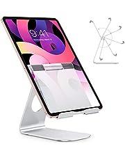Tabletstandaard, OMOTON verstelbare tabletstandaard, aluminium tablethouder beugeltafel voor iPad Air 4 / Mini, iPad 10.2 / 9.7, iPad Pro 11 / 12.9, Samsung en anderen tot 12,9 inch - zilver