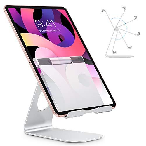 OMOTON Soporte Ajustable para Tablet Mesa, Multiángulo Soporte para Móvil Mesa&Escritorio de Aluminio Compatible con iPad Pro 12.9/11/10.5 iPad Air 4 /3 / 2 Mini 2 3 4 Samsung, Huawei, iPh