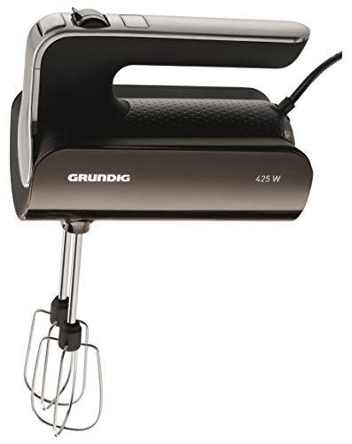 Grundig HM 6280 G Handmixer (425 Watt)mit Edelstahl Rührstäben, 4 Stufen, Grey Sense