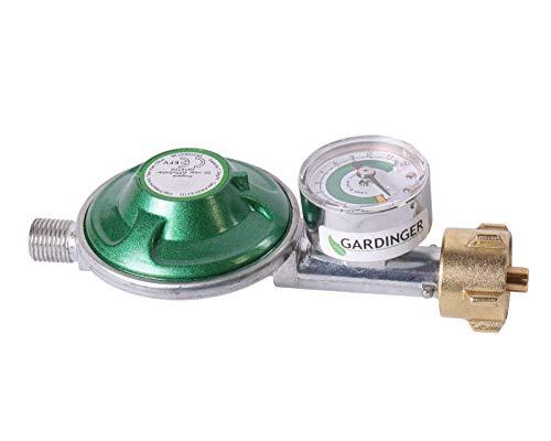 GARDINGER Druckregler 50 mbar integrierte Schlauchbruchsicherung (Campingregler)