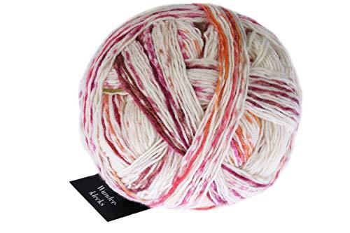theofeel Schoppel Wolle Zauberball Wunderklecks 2412 Kirschblüte, Bunte Sockenwolle mit Farbverlauf zum Stricken oder Häkeln