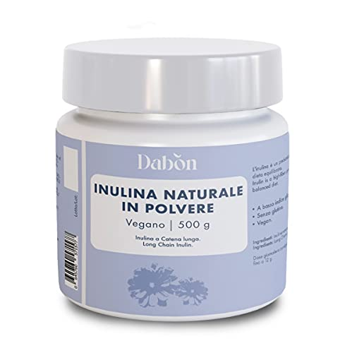 Dabon - Inulina Naturale in Polvere a catena lunga da radice di cicoria - 500 gr