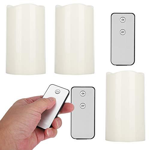 SALUTUYA Velas de plástico parpadeantes de 12,5 x 7,5 cm para Fiestas