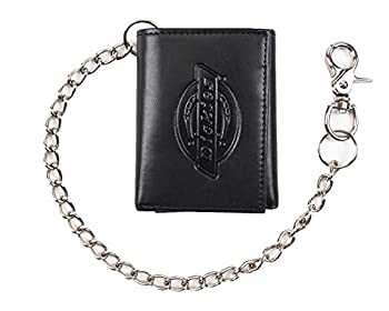 Dickies Men s Trifold Chain Wallet with ID Window and Credit Card Pockets Black One Size