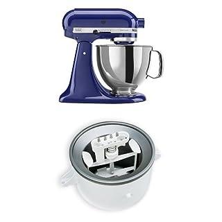 KitchenAid KSM150PSBU Artisan 5-Quart Stand Mixer, Cobalt Blue + KitchenAid KICA0WH Ice Cream Maker Attachment Bundle (B010HLJ5W0) | Amazon price tracker / tracking, Amazon price history charts, Amazon price watches, Amazon price drop alerts