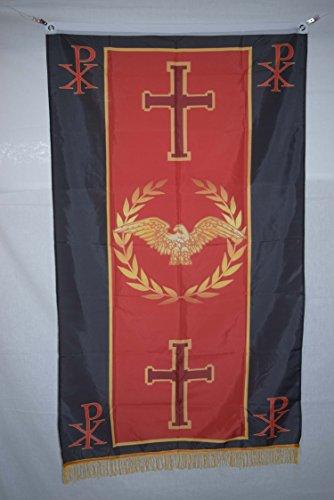 Christian Roman Empire Senat & Menschen von Rom SPQR Geschichte Flagge Banner Fransen 3x 5