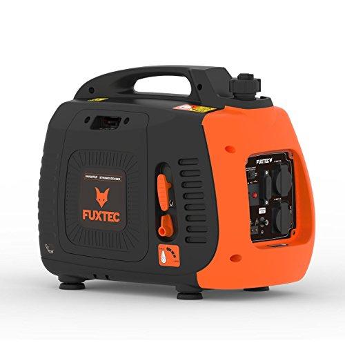 Fuxtec Inverter FX-IG12 Wechselrichter Benzin Stromerzeuger, 2,2 KW Leistung,4h Laufleistung, 3,8L Tankinhalt,4-Takt Motor - 2X 230V Anschluss geeignet für Ladegeräte,Laptops,2X USB-Anschlüsse 5V-2A