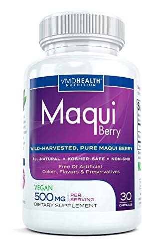 Maqui Berry - haute puissance, Maqui Berry supplément. Tout antioxydant naturel choix culinaires incorporés supplément - 500mg 30 capsules