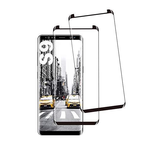 Galaxy S9 Film Protection Ecran Verre Trempé, [2 Pièces] [Anti Rayures] [Dureté 9H] [Ultra Claire] [Case Friendly] Film Protecteur en Verre trempé de Haute qualité pour Samsung Galaxy S9