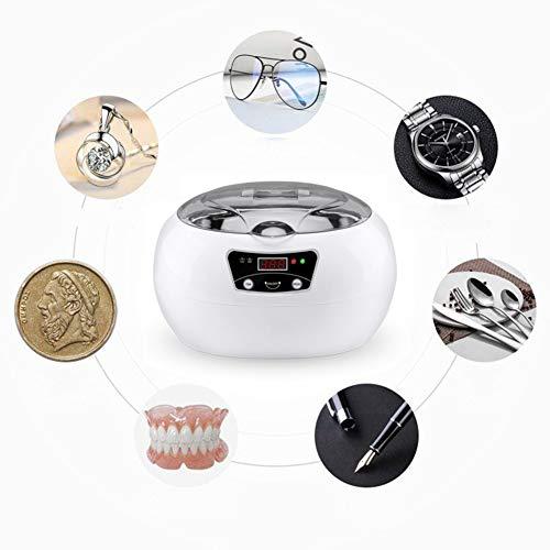 Wasmachines, 600Ml Ultrasone Reiniger Manicure Gereedschap Sonic Schoonmaak Sieraden Brillen Kunstgebit Thuis Ultrasound Bath Wasmachine