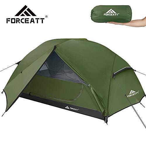 Forceatt Zelt 3 Personen Camping Zelt, Wasserdicht und Winddicht 3-4 Jahreszeiten Ultraleichtes Rucksackzelt, Kann Sofort Installiert Werden, Geeignet für Wandern, Camping, Outdoor