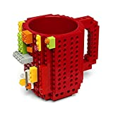 Regalo para niños, taza de bloque de construcción, divertida taza de agua montada, taza de café de descompresión de...