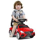 GOPLUS 2 in 1 Kinderauto, Kinderfahrzeug mit Musik /Scheinwerfer/ Hupe, mit Stauraum unter dem Sitz,...