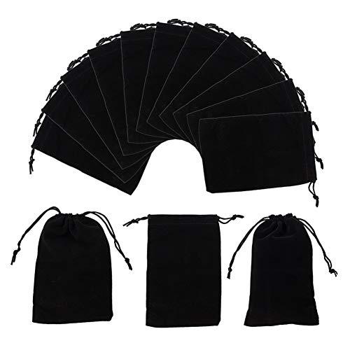 NBEADS Bolsos del Terciopelo 5Pcs, Bolsa de Terciopelo Negro de 10 × 15 cm para Joyas, Tapones para Oídos Y Llaveros