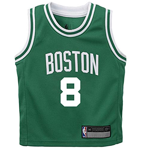 NBA Kids 4-7 Official Name and Number Replica Home Alternate Road Player Jersey (5/6, Kemba Walker Boston Celtics Green Icon Edition)