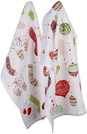 DII CAMZ10650 100 Cotton Decorative Holiday Dishtowels 18x28 Set of 2 Christmas Trimmings product image