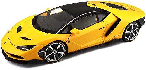 Maisto Lamborghini Centenario, modelauto met vering, schaal 1:18, deuren en motorkap beweegbaar, hoogwaardig kant-en-klaar model, bestuurbaar, 24 cm, geel (538136)