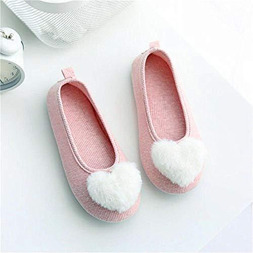 B/H Andar por casa,Zapatos de confinamiento de sección Delgada con Zapatos de Maternidad Transpirables en el talón Zapatillas de Interior de Fondo Suave-A_39-40,Slipper Interiores y Exteriores