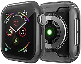 Mapzi Soft Flexible TPU Screen Protector Protective Case Compatible with Apple Watch 44mm Series 4 (Black)