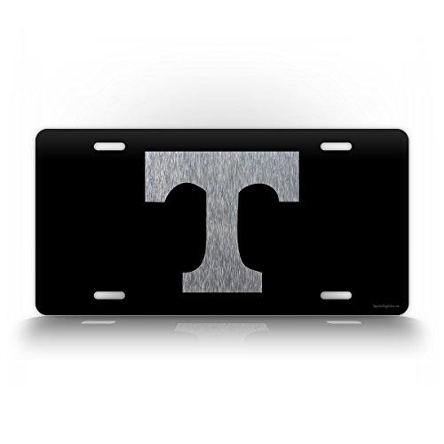 SignsAndTagsOnline Tennessee Power T License Plate TN Auto Tag Volunteers Vols Big Orange Football Black & Silver