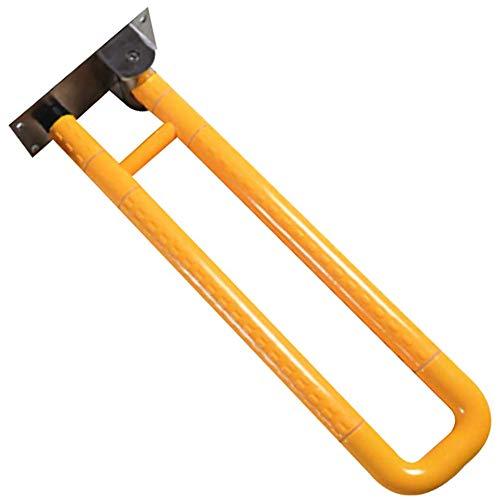AQAWAS Faltbar Wandstützgriff Stützhilfe, Dusche Wc Griff Wc-aufstehhilfe Für Behindertenhilfe Und Altenhilfe Aus Edelstahl Toiletten Sicherheits Haltestange Aufstehhilfen,Yellow