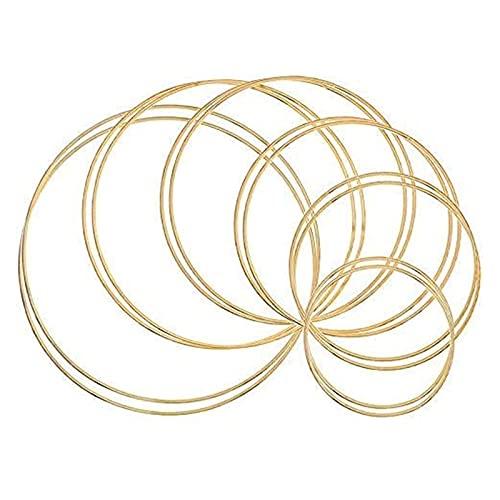 12pcs Gold Dream Catcher Metal Rings