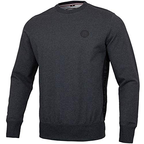 Pit Bull West Coast Pullover, French Terry Small Logo, dunkelgrau Größe M