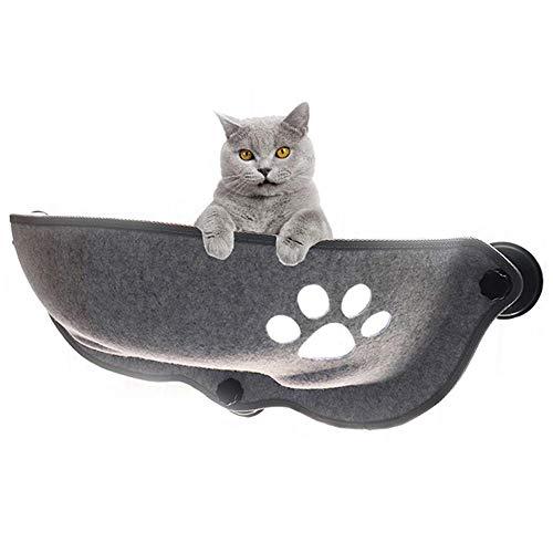 DOUDOU Cat Bed, Cat Window Perch Window Seat Suction Cups Space Saving Cat Hammock Pet Resting Seat Safety Cat Shelves, Providing All Around 360° Sunbath