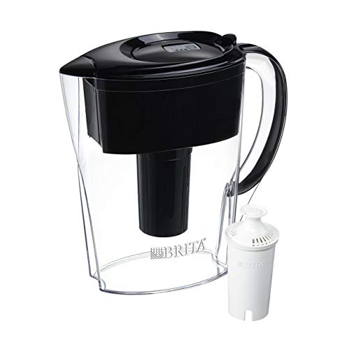 Brita Space Saver 6 Cup Water Pitcher - Black