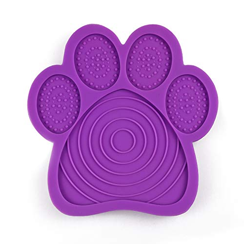 Weliu Lick Pad for Dog, Slow Treat Dispensing Mat Suctions To Wall for Pet Bathing, Grooming, and Dog Training Distraction Device To Make Bath Time Happy